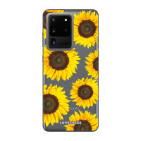LoveCases Samsung Galaxy S20 Ultra Sunflower Clear Phone Case