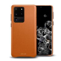 Olixar Genuine Leather Samsung Galaxy S20 Ultra Case - Brown