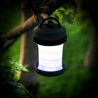 Auraglow Folding LED 2-in-1 Camping Lantern & Torch - Black