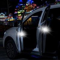 Baseus LED Door Open Warning Safety Flashing Lights - Black - 2 Pack