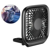 Baseus Car Mount Backseat & Desk Foldable Fan - Black