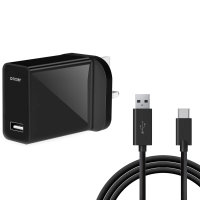 Olixar High Power UK Mains Charger With USB-C Cable 1m - Black