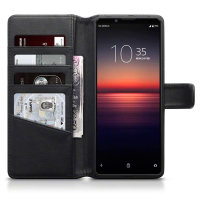 Olixar Genuine Leather Sony Xperia 1 II Wallet Case - Black