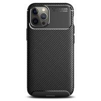 Olixar Carbon Fibre Apple iPhone 12 Pro Case - Black