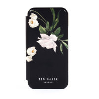 Ted Baker Elderflower iPhone 12 Pro Anti-Shock Folio Case-Black/Silver