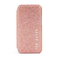 Ted Baker Folio Glitsie iPhone 12 Pro Max Flip Mirror Case - Pink