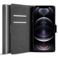 Olixar Genuine Leather iPhone 12 Pro Wallet Case - Grey
