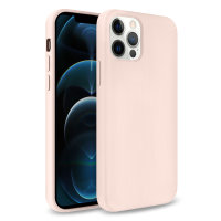 Olixar Soft Silicone iPhone 12 Pro Max Case - Pastel Pink