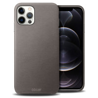 Olixar Genuine Leather iPhone 12 Pro Case - Grey