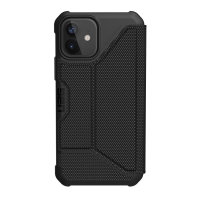 UAG Metropolis iPhone 12 mini Tough Wallet Case - Kevlar Black