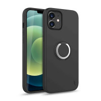 Zizo Revolve Series iPhone 12 mini Thin Ring Case - Magnetic Black