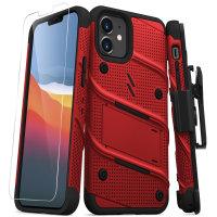 Zizo Bolt Series iPhone 12 mini Tough Case - Red
