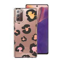 LoveCases Samsung Galaxy Note 20 Leopard Print Clear Case - Multi