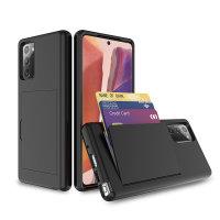 Olixar Samsung Galaxy Note 20 Armour Vault Tough Wallet Case - Black