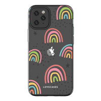 LoveCases iPhone 12 Pro Max Abstract Rainbow Case - Clear