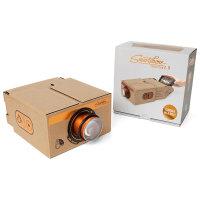 Luckies Portable Cardboard Universal Smartphone Projector 2.0 - Copper
