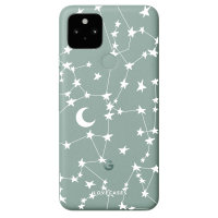 Lovecases Google Pixel 5 White Stars & Moons Case - Clear