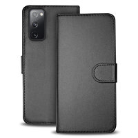 Samsung Galaxy S20 FE Leather Style Wallet Case - Black