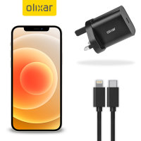 Olixar iPhone 12 18W Fast Mains Charger & USB-C to Lightning Cable