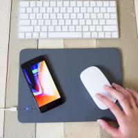 Kikkerland Qi Wireless Charging Mouse Pad - Grey
