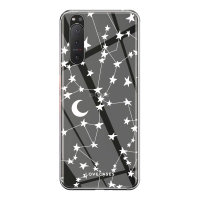 LoveCases Sony Xperia 5 II Gel Case - White Stars and Moons