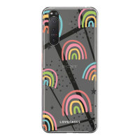 LoveCases Sony Xperia 5 II Gel Case - Abstract Rainbow