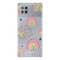 Lovecases Samsung Galaxy A42 5G Gel Case - Abstract Rainbow