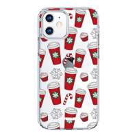 LoveCases iPhone 12 mini Christmas Red Cups Case - Clear