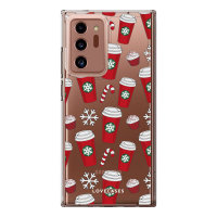 LoveCases Samsung Galaxy Note 20 Ultra Christmas Red Cups Case - Clear