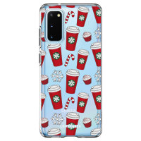 LoveCases Samsung Galaxy S20 Christmas Red Cups Case - Clear