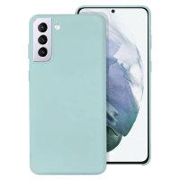 Olixar Samsung Galaxy S21 Plus Soft Silicone Case - Pastel Green
