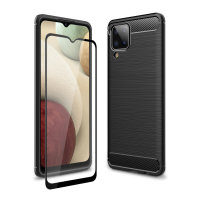 Olixar Sentinel Samsung Galaxy A12 Case & Glass Screen Protector