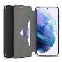Olixar Soft Silicone Samsung Galaxy S21  Wallet Case - Black