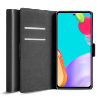Olixar Genuine Leather Samsung Galaxy A52 Wallet Case - Black