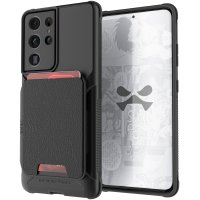 Ghostek Exec 4 Samsung Galaxy S21 Ultra Leather Wallet Case - Black