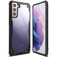 Ringke Samsung Galaxy S21 Fusion X Tough Bumper Case - Black