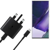 Official Samsung Note 20 Ultra 45W Wall Charger & USB-C to C 1m Cable