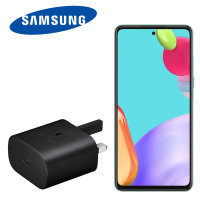 Official Samsung Galaxy A52 25W PD USB-C UK Wall Charger - Black