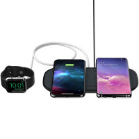 Mophie Qi Dual Wireless Fast Charging Pad With USB Port - Black