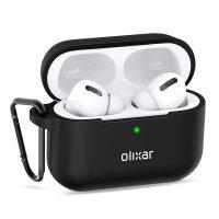 Olixar Soft Silicone Apple Airpods Pro Protective Case - Black