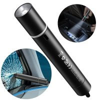 Baseus Saviour 2 in 1 Emergency Hammer And Window Flashlight -  Black