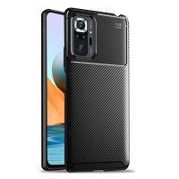 Olixar Carbon Fibre Xiaomi Redmi Note 10 Pro Max Case - Black