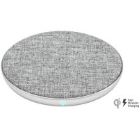 Ventev 10W Qi Fast Wireless Charging Pad With UK Charger - Grey