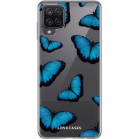 LoveCases Samsung Galaxy A12 Gel Case - Blue Butterfly