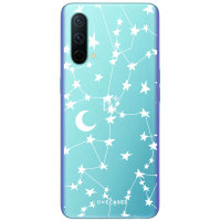 LoveCases OnePlus Nord CE 5G Gel Case - White Stars & Moon