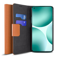 Olixar Leather-Style Oneplus Nord CE 5G Wallet Stand Case - Brown