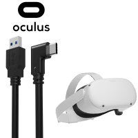 Oculus Quest 2 Right Angled USB-C Charging Cable - 3m - Black
