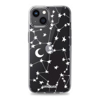 LoveCases iPhone 13 mini Gel Case - White Stars and Moons