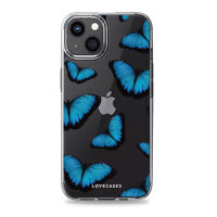 LoveCases iPhone 13 mini Gel Case - Blue Butterfly