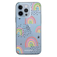 LoveCases iPhone 13 Pro Max Gel Case - Abstract Rainbow
